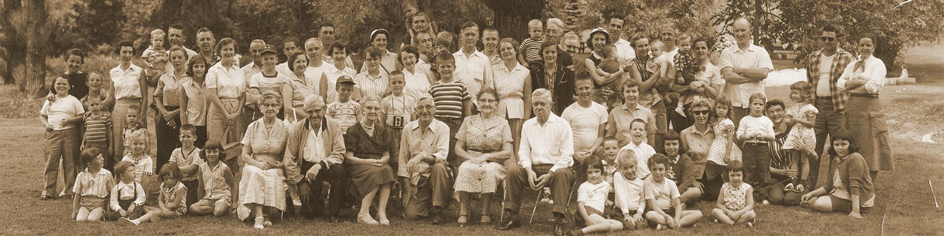 une cousinade, une réunion de personnes ayant un ancêtre en commun